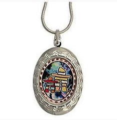 Native Inukshuk Colourful Locket
