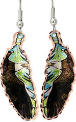 Eagle Colourful Feather Earrings