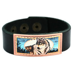 Wolf Colourful Lynn Bean Leather Bracelet