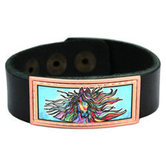 Horse Colourful Lynn Bean Leather Bracelet