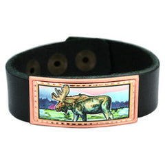 Moose Colourful Lynn Bean Leather Bracelet