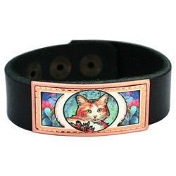 Cat Colourful Lynn Bean Leather Bracelet