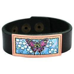 Butterfly Colourful Lynn Bean Leather Bracelet