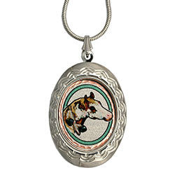 Horse Colourful NW Native Locket