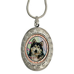 Wolf Colourful NW Native Locket