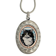 Cat Colourful NW Native Locket