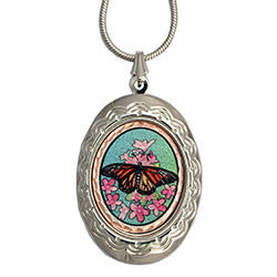 Butterfly Colourful NW Native Locket