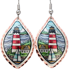 Tall Lighthouse Marine Earrings