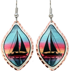 Sailboat Marine Earrings.