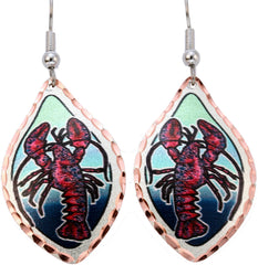Red Lobster Marine Earrings