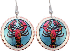 Round Lobster Marine Earrings