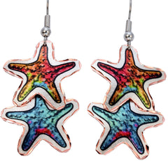 Dangle Starfish Marine Earrings