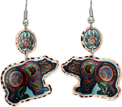 'Bear' Artist Collection Copper Multiple Earrings - Oscardo