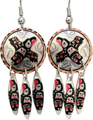 Andy Everson Transcendence Artist Collection Copper Multiple Earrings