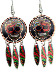 Liz Feyerabend Skull Artist Collection Copper Multiple Earrings
