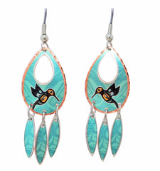 'Hummingbird' Artist Collection Copper Earrings - Oscardo