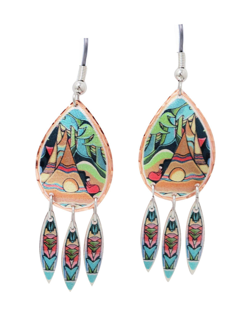 And Some Watched the Sunset Artist Collection Copper Earrings - Oscardo