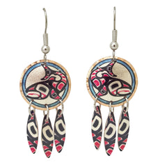 Jamie Sterritt Salmon Artist Collection Copper Multiple Earrings