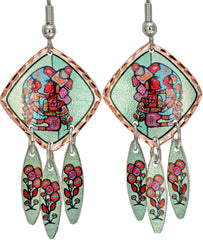 Norval Morrisseau Mother & Child Artist Collection Copper Multiple Earrings