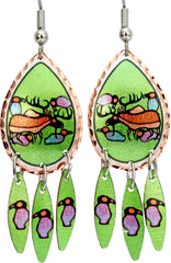 Norval Morrisseau Moose Harmony Artist Collection Copper Multiple Earrings