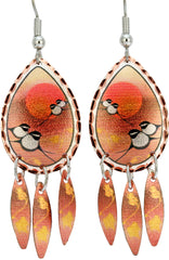 'Chickadee' Artist Collection Copper Multiple Earrings - Oscardo