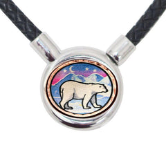 Polar Bear Braided Leather Necklace