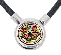 Butterfly Braided Leather Necklace