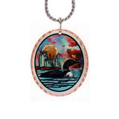 Loon Colourful Copper Necklace