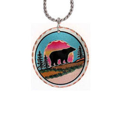 Bear Colourful Copper Necklace