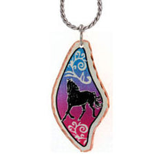 Horse Colourful Copper Necklace