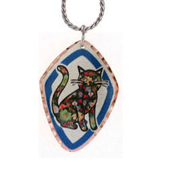 Cat Colourful Copper Necklace