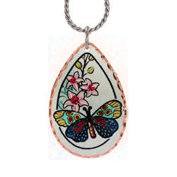 Butterfly Colourful Copper Necklace