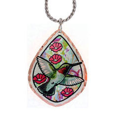 Hummingbird Colourful Copper Necklace