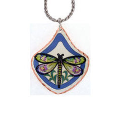 Dragonfly Colourful Copper Necklace