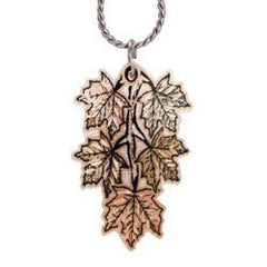 Maple Leaf Colourful Copper Necklace