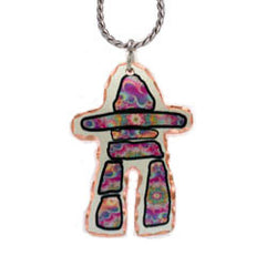 Inukshuk Colourful Copper Necklace