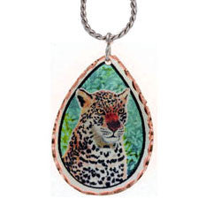 Leopard Colourful Copper Necklace