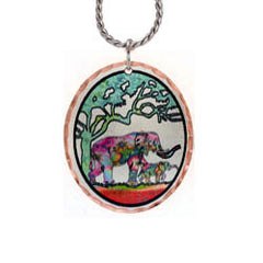 Elephant Colourful Copper Necklace