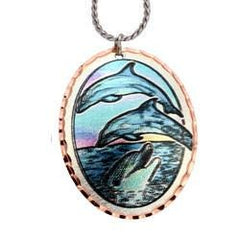 Dolphin Colourful Copper Necklace