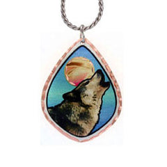 Wolf Colourful Copper Necklace