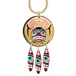 Native Bear Colourful Cut-out Necklace