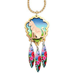 Cat Colourful Cut-out Necklace