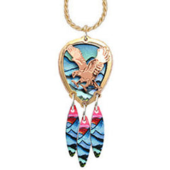 Eagle Colourful Cut-out Necklace