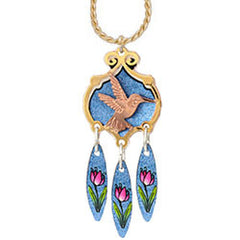 Hummingbird Colourful Cut-out Necklace