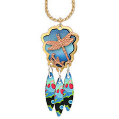 Dragonfly Colourful Cut-out Necklace