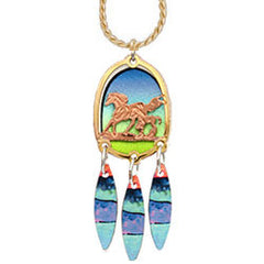 Horse Colourful Cut-out Necklace
