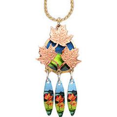 Maple Leaf Colourful Cut-out Necklace