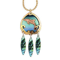 Dolphin Colourful Cut-out Necklace