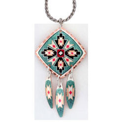 Native Design Colourful Multiple Necklace
