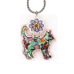 Cat Colourful Multiple Necklace